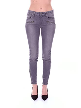 Paige 1731743 Pantalones Vaqueros Mujer Gris 28: Amazon.es ...