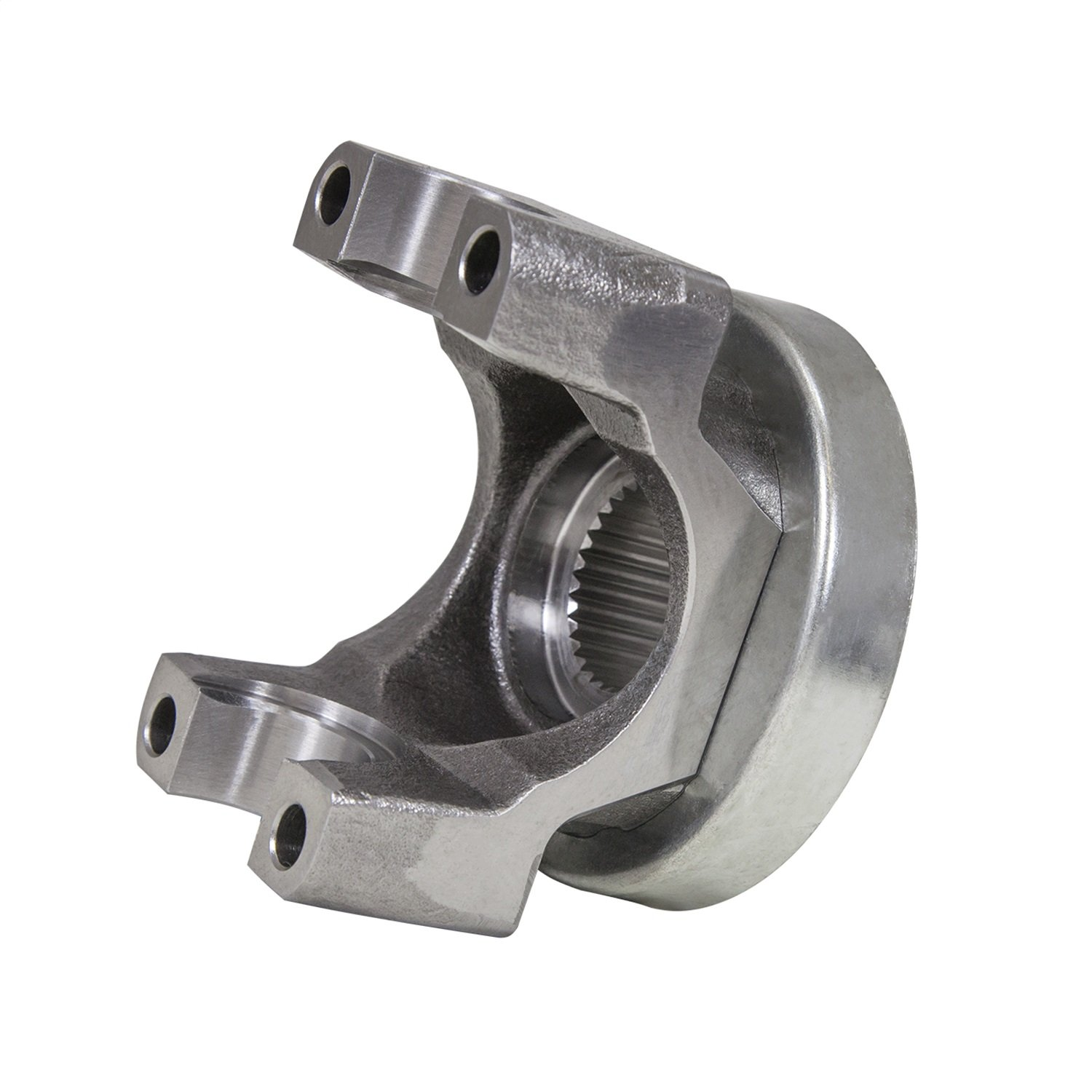 Yukon Gear & Axle (YY GM12470387) Yoke for GM 8.5/8.6 Differential GM (mech 3R) with a U/joint size and triple lip design. 2.556' snap ring span, 1.125' cap diameter. Inside snap ring. 1.125 cap diameter. Inside snap ring.