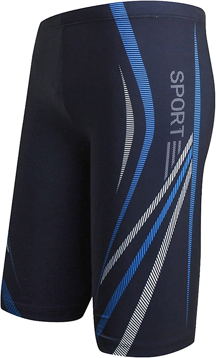 AIEOE Mens Swim Jammers Quick Dry Training Swim Jammer Swimsuit Trunk