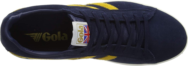 Gola Men's Equipe Suede Low-Top Sneakers Blue Navy Sun Ey