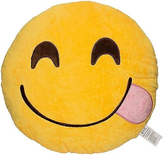 Weitengs Oi Emoji Smiley Emoticon Cushion Pillow Stuffed Plush Toy Doll Yellow