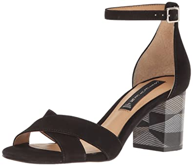 STEVEN by Steve Madden Women's Voomme-s Dress Sandal, Black Nubuck, ...