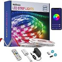 Wifi Ledstrip, 10 m, RGB ledstrip, zelfklevend, kleurverandering, led-band met IR-afstandsbediening, app-bediening…