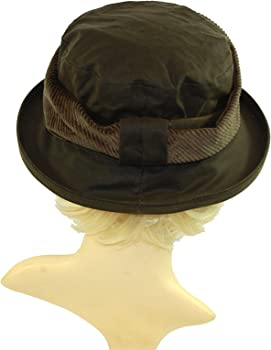GIZZY® Ladies Olive Green Waxed Cotton Rain Hat 6d8034a7ff11