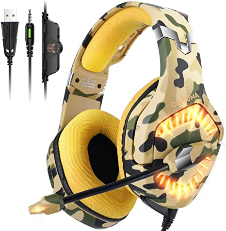 ONIKUMA Auriculares Ps4, Cascos Xbox One con Sonido Envolvente ...