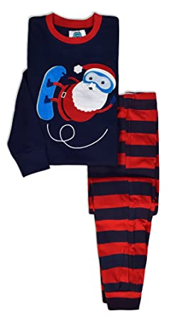 frog and bow boys christmas pjs boys santa pyjamas childrens pj sets boys - Childrens Christmas Pyjamas