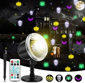 mimoday Luces De Proyector Halloween Luces De Interior Para ...
