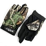 釣り用 手袋 迷彩 葉柄 フィッシンググローブ 指 3本 出し 釣道具 防寒 手袋 伸縮性・吸湿発散性 滑り止め …