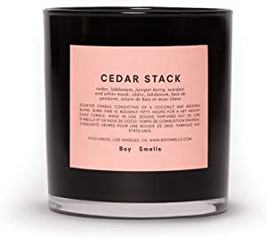 Boy Smells Cedar Stack Candle | 50 Hour Long Burning Candles | All Natural Beeswax & Coconut Wax Candle | Luxury Scented Candles (8.5 oz)