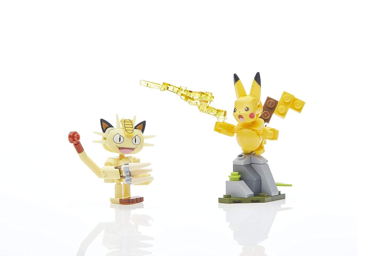 Pokemon Mega Construx Pikachu /& Meowth Showdown Set