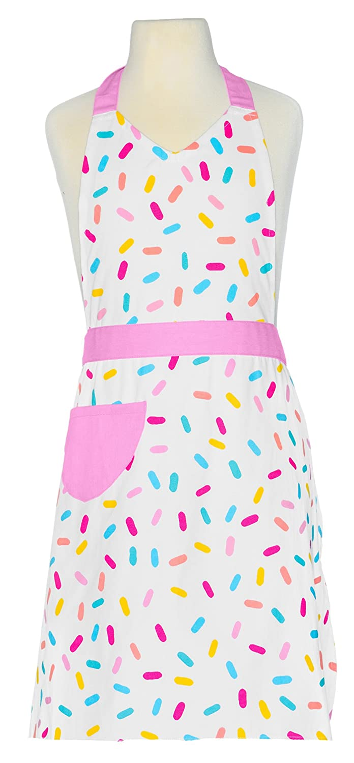 Handstand Kitchen Child's 100% Cotton Sprinkles Apron with Patch Pocket Handstand Kids LLC SPKL-KA