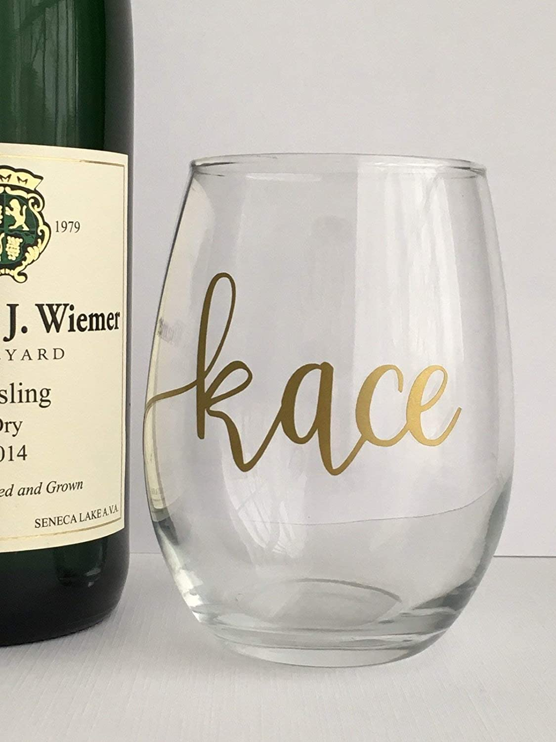 Hostess Gift Custom Gold Maid of Honor Matron of Honor Bridesmaid Gift Housewarming Personalized Wine Glass
