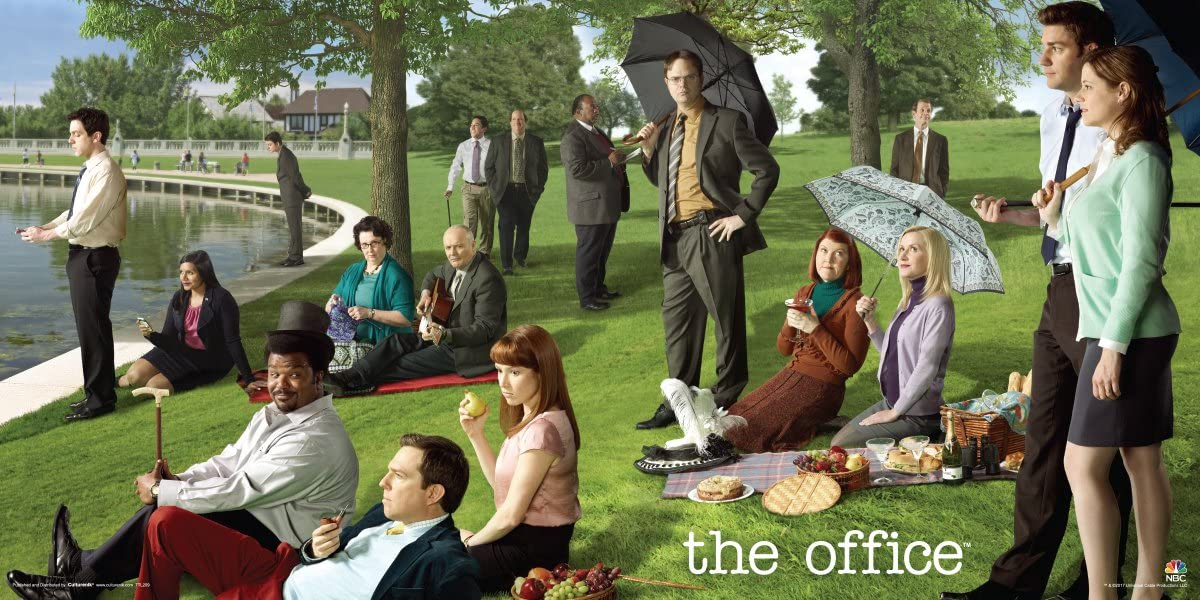 Culturenik The Office Georges Seurat Painting (Dunder Mifflin) Cast Group Workplace Comedy TV Television Show Print (Unframed 12x24 Poster)