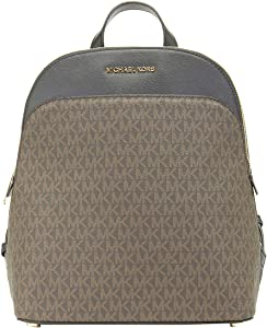 MICHAEL KORS EMMY LARGE BACKPACK PVC LEATHER BROWN