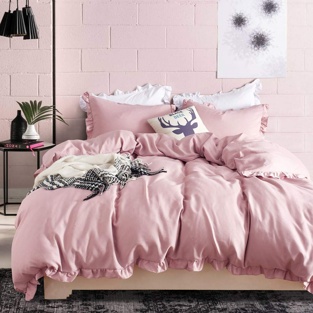 Beyonds Pure Luxury 3 Piece Bed Set Deep Pockets Bedding Set Includes x1 Duvet Cover x2 Pillowcases - Double-Brushed Microfiber Fabric