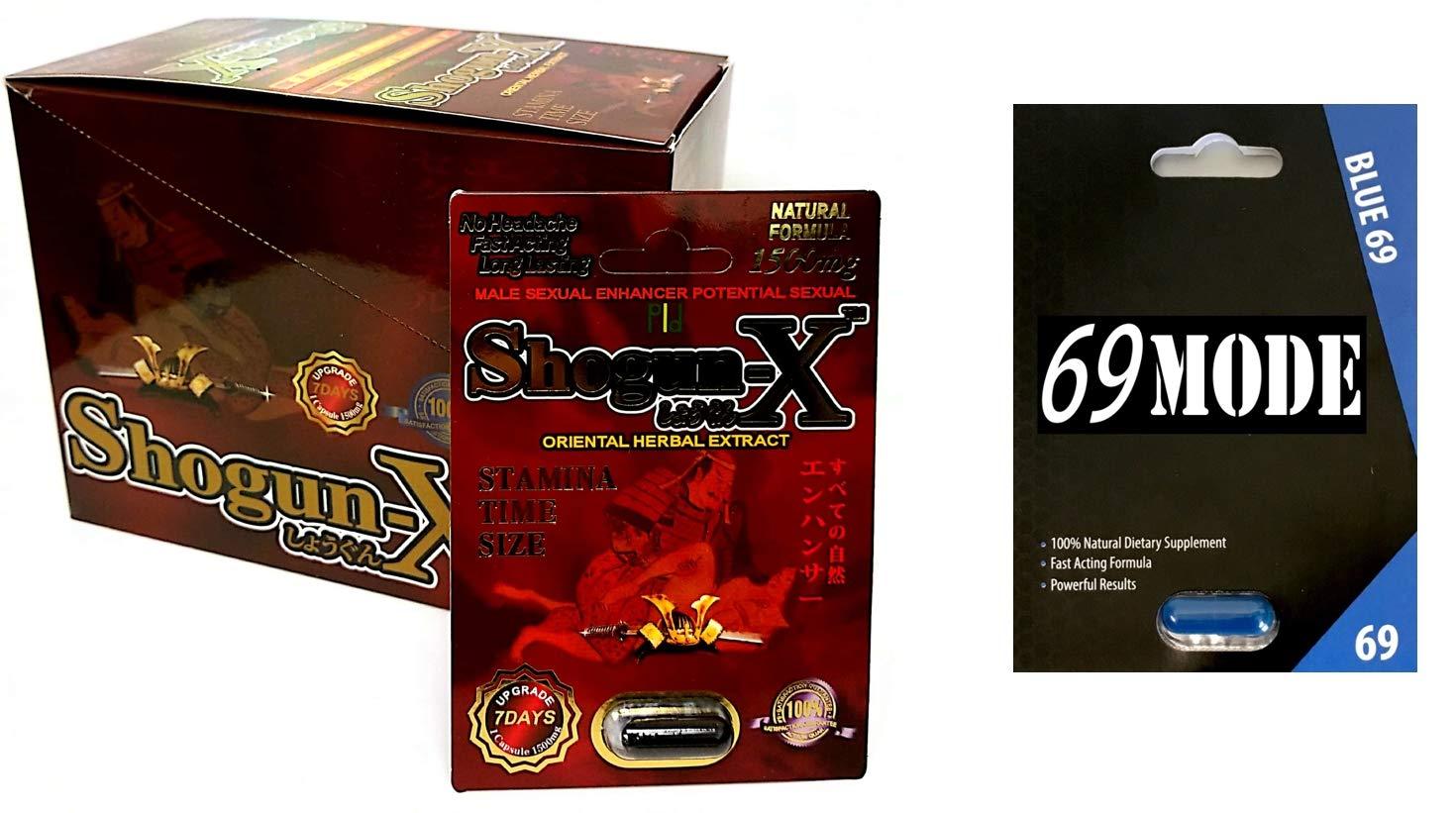 Shogun-X 1500mg 24Pills in The Box 69MODE Blue69 1Pill Male Sexual Enhancing Formula by ShogunX 69Mode