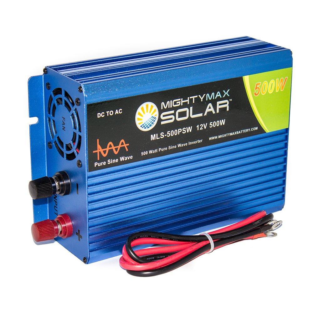 12v To 110v 220v 500w Inverter Elektronika T Circuit Diagrams Diagram Dc Ac 200w Sine Wave Amazoncom Mighty Max Battery 500 Watt Pure For Solar Application Brand Product Automotive