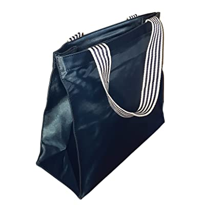 Deluxe Zip Top Tote Bag w/ Small Pouch
