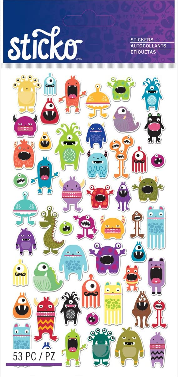 Sticko Classic Mini Monsters Stickers