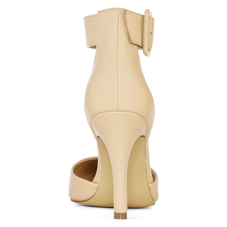 5cf588033ee Amazon.com | Diba® London Pizazz Ankle-Strap Pumps (9.5 M, Nude) | Pumps