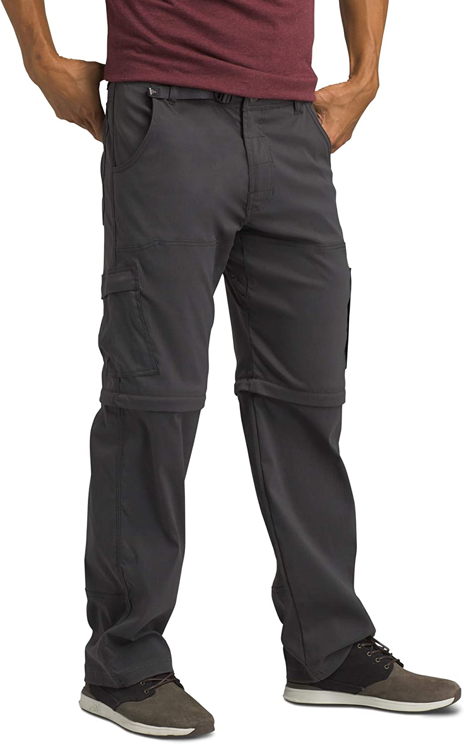 prAna - Men's Stretch Zion Convertible Water-Repellent Pants for Hiking and Everyday Wear