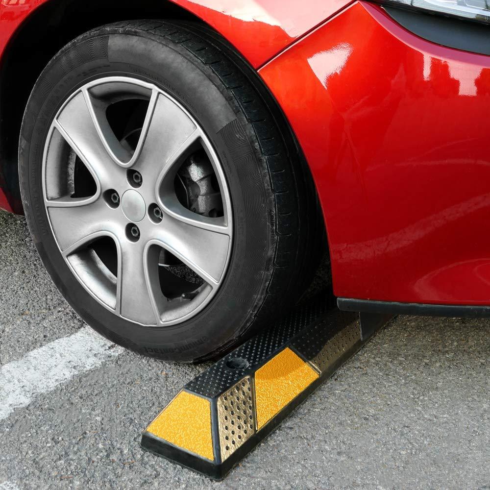 Cablematic - Tope de ruedas para aparcamiento 1800x150x100mm de goma: Amazon.es: Electrónica