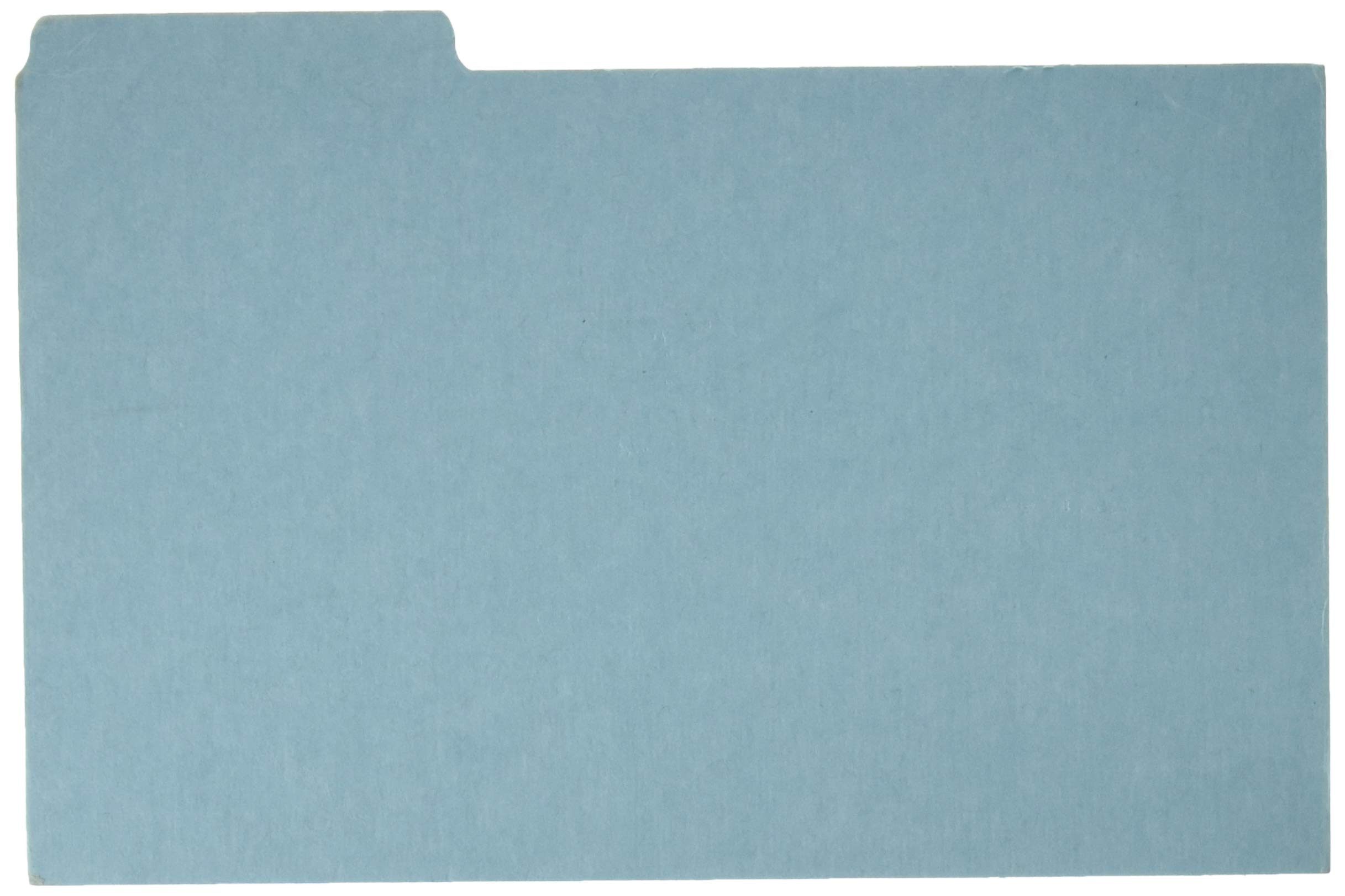 Pressboard Index Card Guides,Blank,1/3 Cut,8''x5'',100/BX,Blue, Sold as 1 Box by Oxford