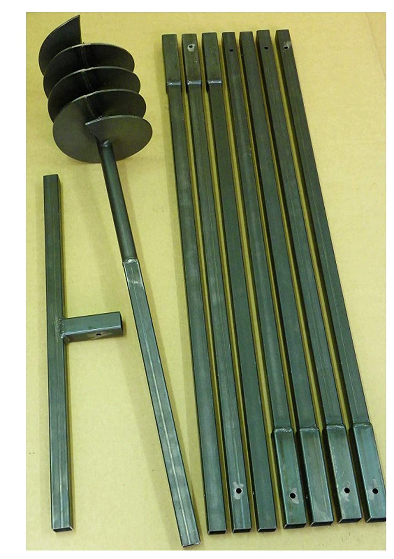 Erdbohrer Brunnenbohrgerät Brunnenbohrer 120 mm 1,5 m Handerdbohrer Lochspaten