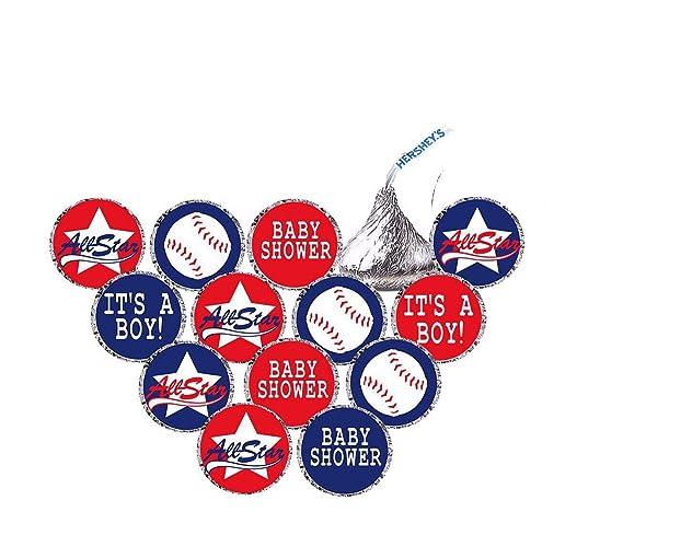 Amazon com: BASEBALL Hershey's Kisses Stickers - Birthday or Baby