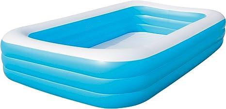 Bestway 54009 Piscina Hinchable Infantil Rectangular, Azul ...