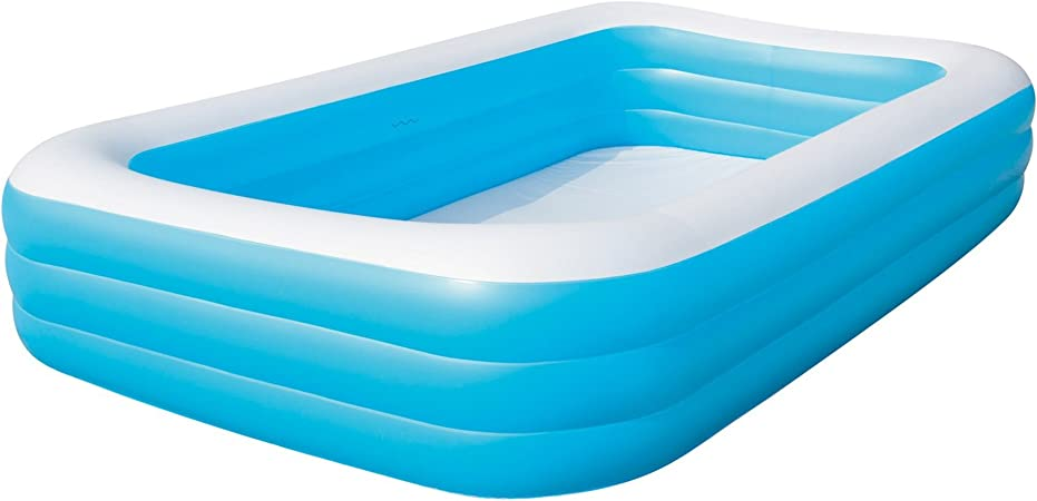 Bestway 54009 Piscina Hinchable Infantil Rectangular, Azul 305cm ...