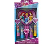 Townley Girl Disney Princess Sparkly Lip Balm For Girls, 4 pack with Light Up Mirror