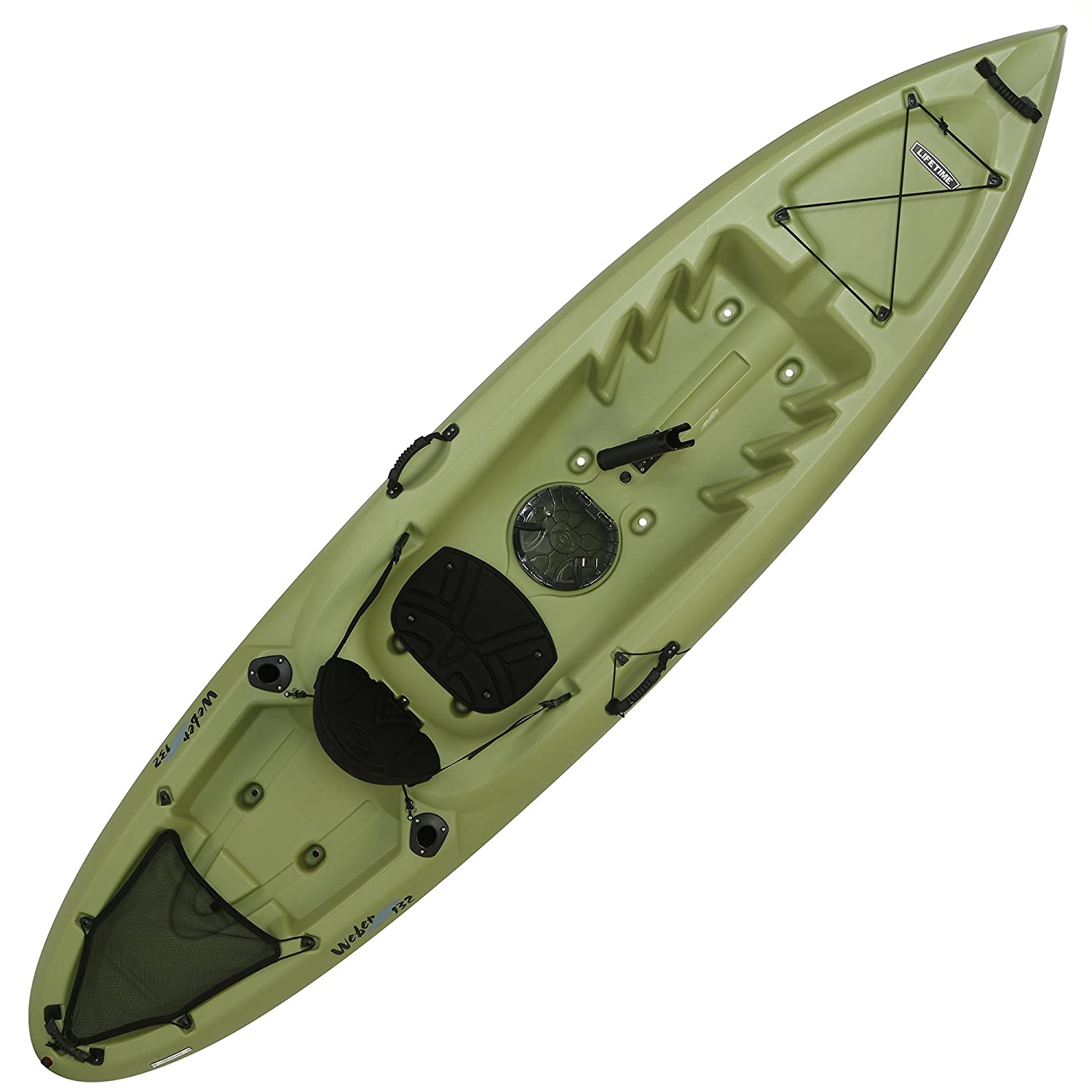 Lifetime Weber Sit-On Top Fishing Kayak, Light Olive, 11