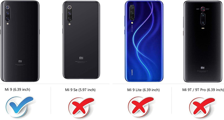 COODIO Funda Xiaomi Mi 9 con Tapa, Funda Movil Xiaomi Mi 9, Funda Libro Xiaomi Mi 9 Carcasa Magnético Funda para Xiaomi Mi 9, Azul Oscuro/Rojo: Amazon.es: Electrónica