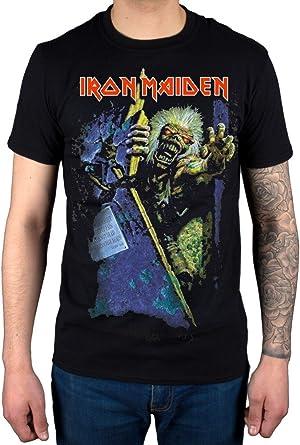 Camiseta Oficial Iron Maiden No Prayer (Negro): Amazon.es: Ropa y accesorios