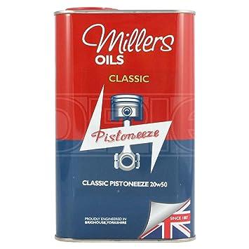 Aceite para motor mineral de Millers Classic Pistoneeze, 20 W, 1 litro: Amazon.es: Coche y moto