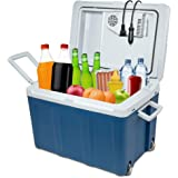 Ivation Electric Cooler & Warmer with Wheels |48 Quart (45 L) Portable Thermoelectric Fridge| Includes Carry Handle…