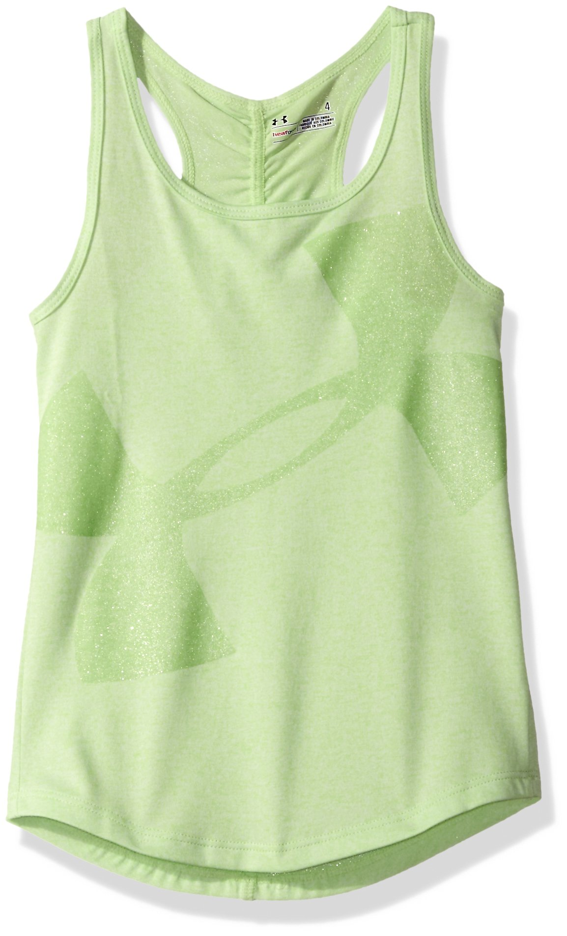 Under Armour Little Girls' Active Tank Tops, Summer Lime, 5