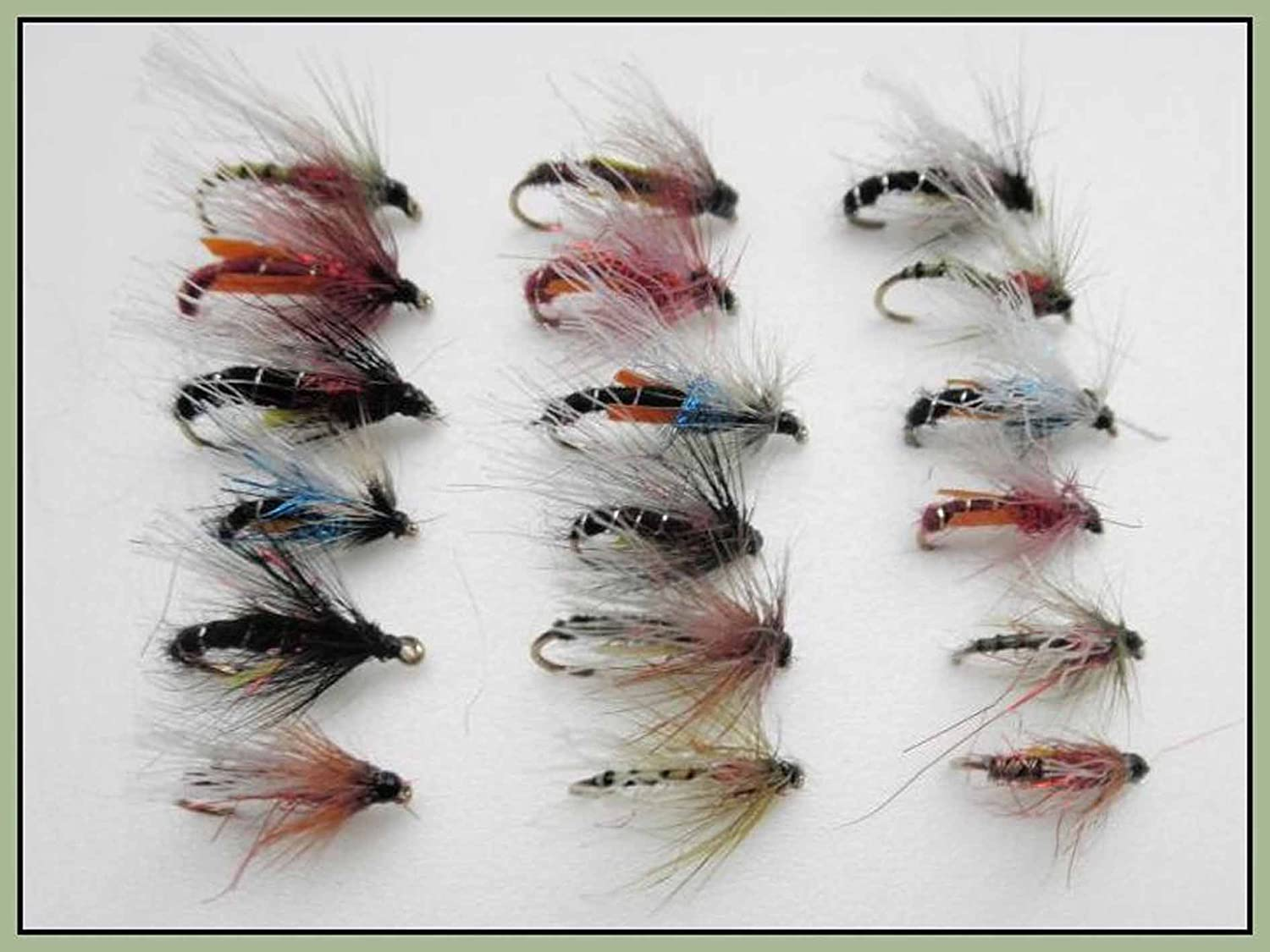 18 Pack Mixed Colours Trout Flies For Fly Fishing Emerger Flies Three Sizes