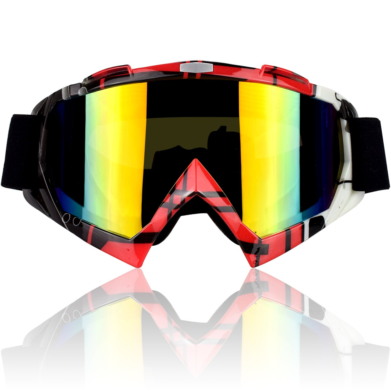 Motorcycle Detachable Mask Anti-UV Goggles Off Road Helmet Goggles Glasses BF#