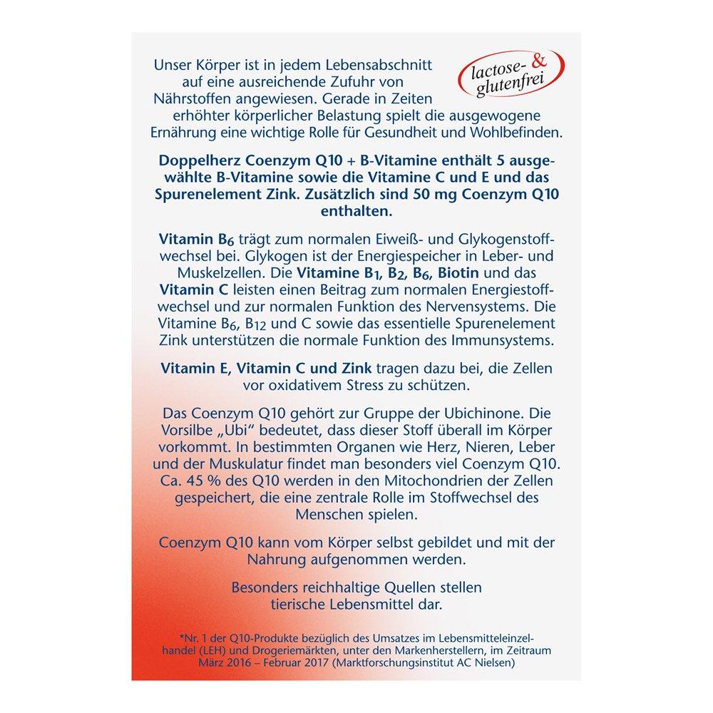 Doble Corazón coenzima Q10 + Vitamina B, 30 cápsulas: Amazon.es: Salud y cuidado personal