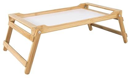 elbmöbel cama Bandeja bambú plegable Desayuno Bandeja 60 x 35 x 21 cm