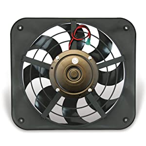 Flex-a-lite 133 Lo-Profile S-Blade Electric Pusher Fan