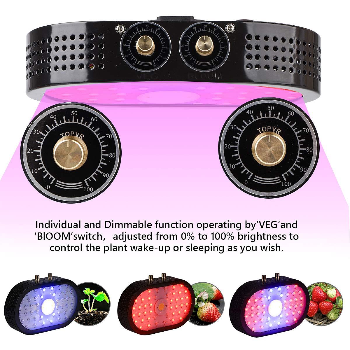 LED Grow Light for Indoor Plants 1100W COB Adjustable Full Spectrum Grow Light with Veg Bloom Switch