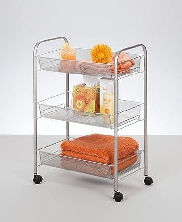 Zeller 17720 Etagen-Rollwagen, Mesh: Amazon.de: Küche & Haushalt