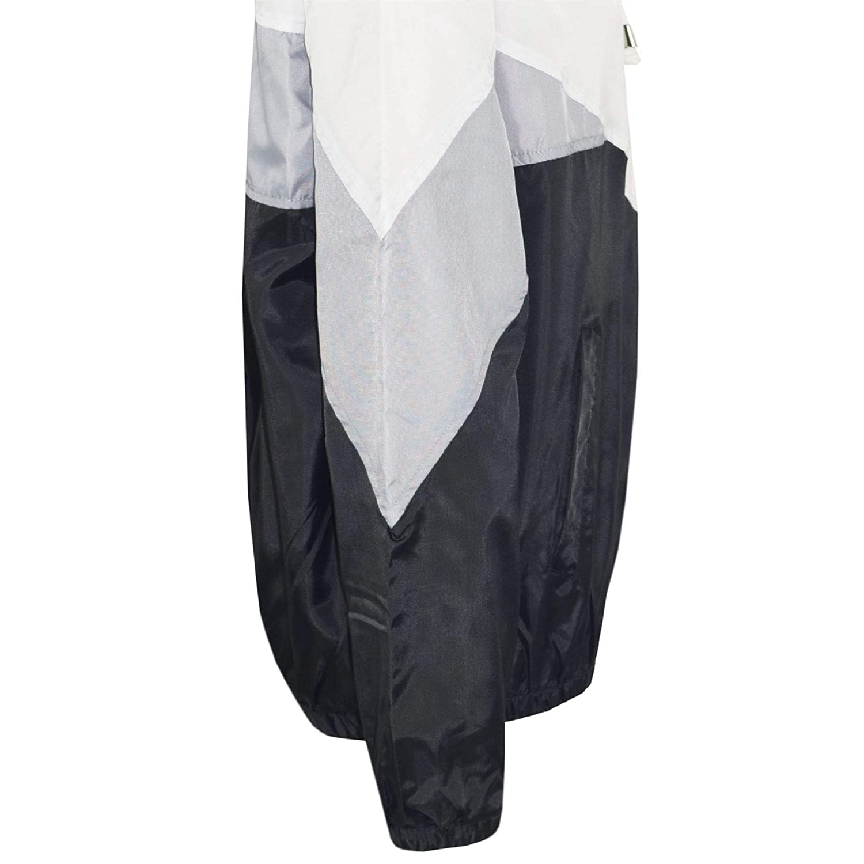 Kids Girls Boys Windbreaker Jackets Black Panelled Hooded Raincoat Age 5-13 Year