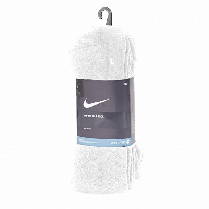 Nike - Calcetines Modelo Golf Dry Fit con talón y puntera reforzados Hombre caballero (42