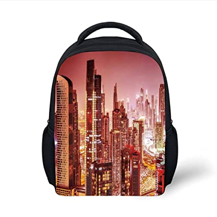 782213e05857 Amazon.com  iPrint Kids School Backpack Cityscape