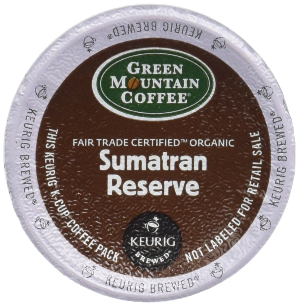 Green Mountain Fair Trade Organic Sumatran Reserve Extra Bold Coffee Keurig K-Cups, 18 Count