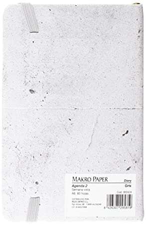 Makro Paper JS15084-GY - Agenda semana vista, Gris Mármol ...